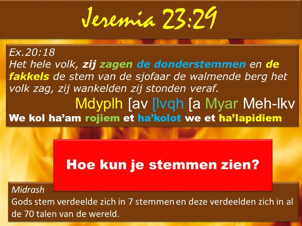 Jeremia 23:29 Mdyplh [av [lvqh [a Myar Meh-lkv